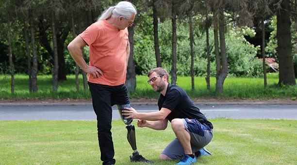 APT Osthessen Schlüchtern - Anprobe der Prothese
