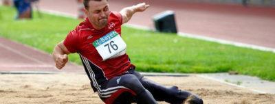 Weitsprung Weltrekord mit Prothese