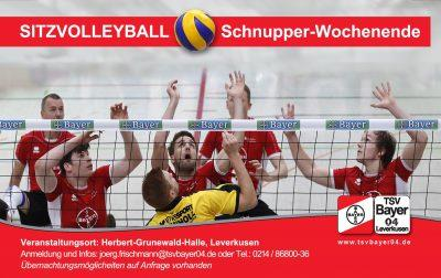 Sitzvolleyball Schnupper-Wochenende beim TSV Bayer 04 Leverkusen